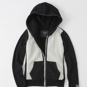 A&F sherpa zip up